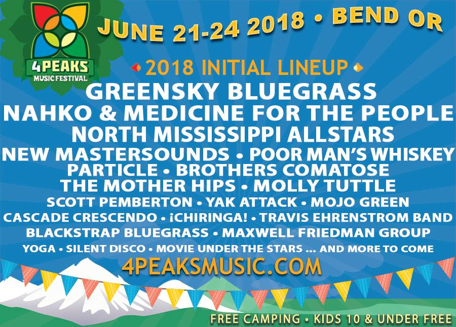 4 peaks music festival Bend Oregon