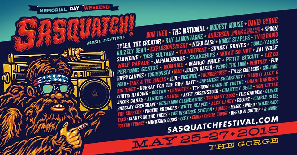 Sasquatch Music Festival George Washington Events