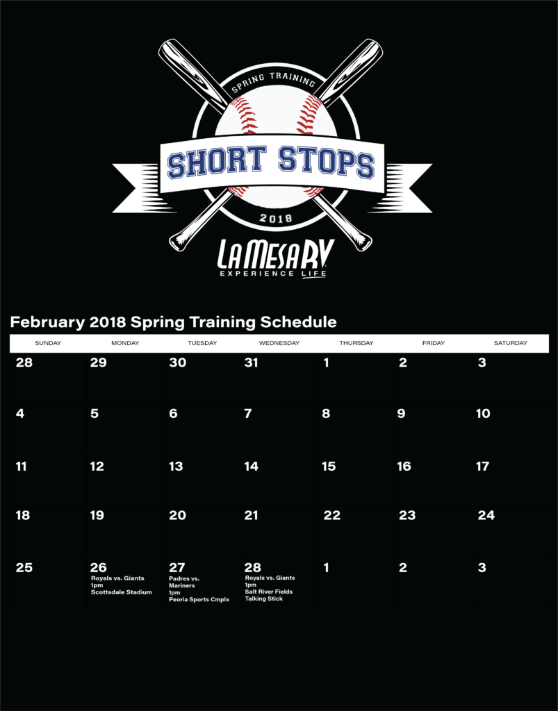 La Mesa RV Short Stops February schedule