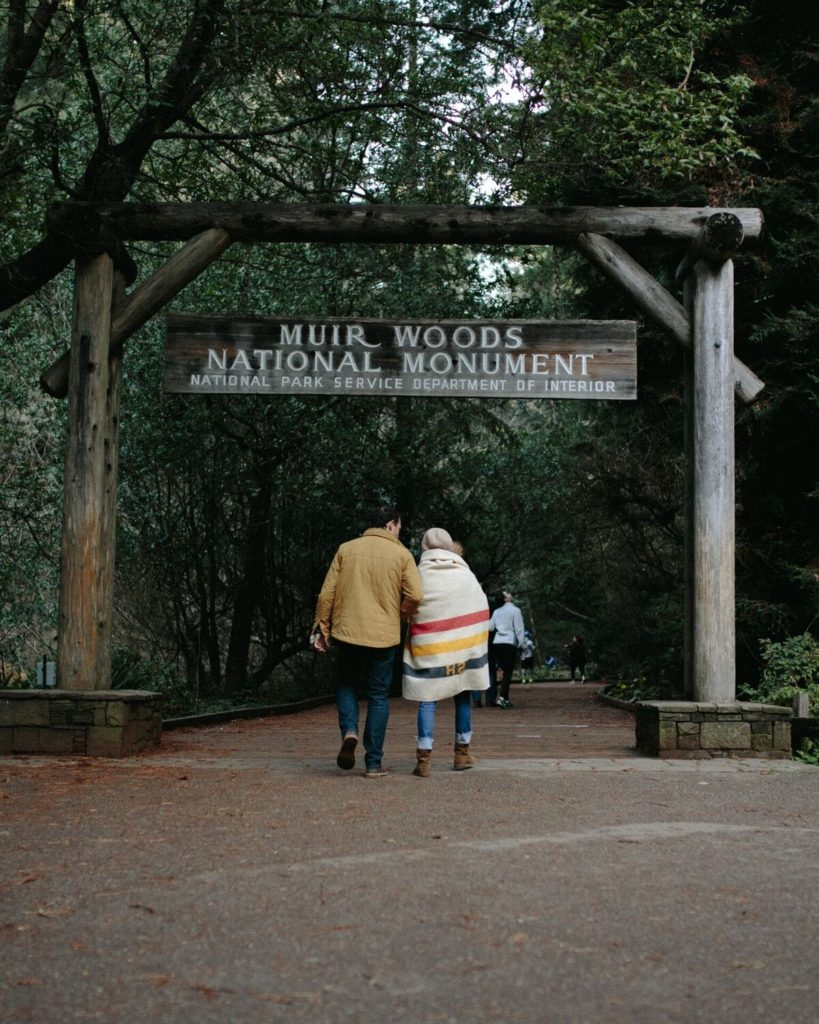 Muir woods national monument enterance