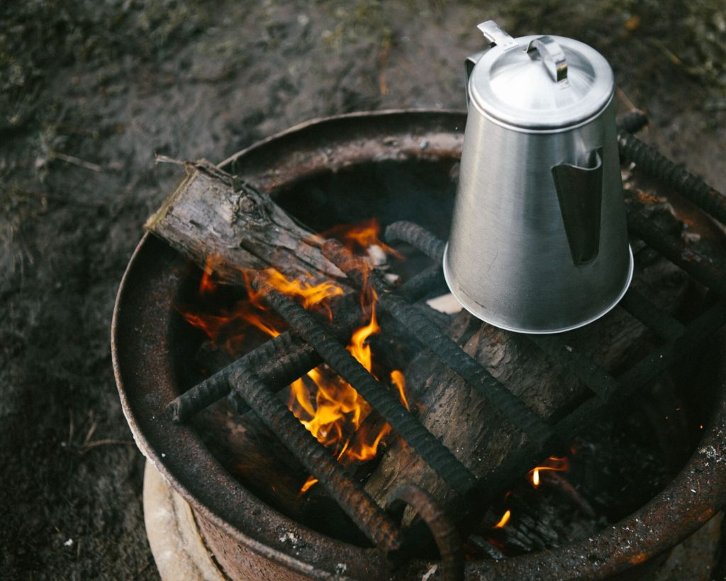Camp fire coffee