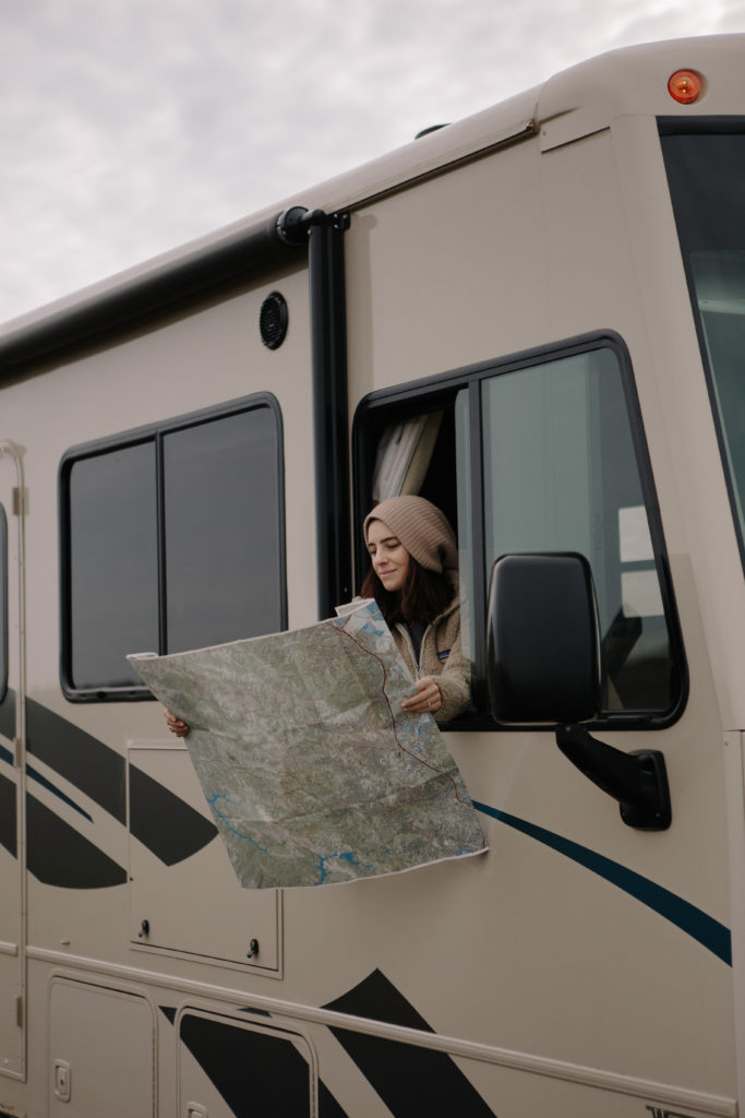 Checking a map in a Class A RV
