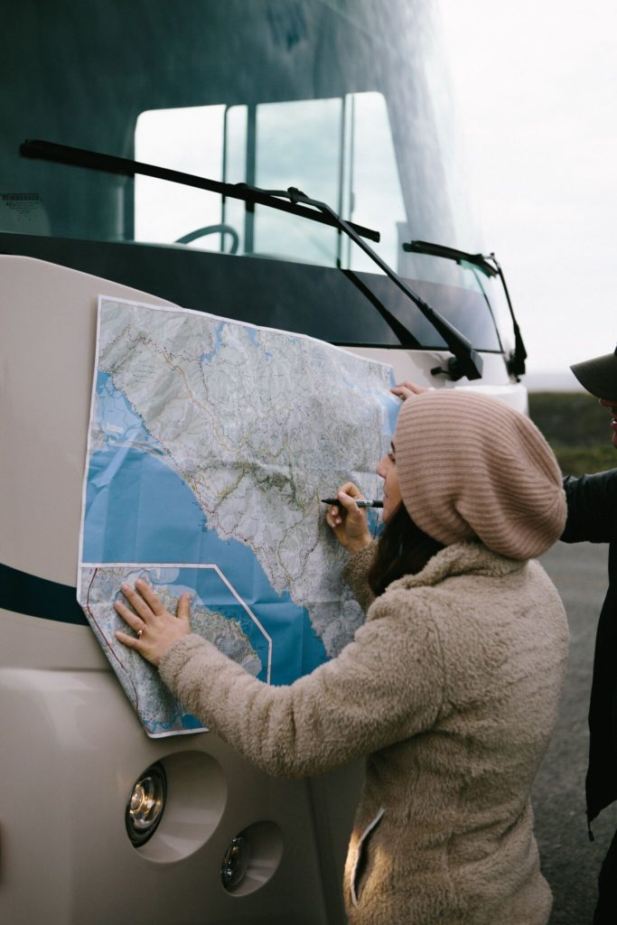 How to check a map while you are on the road