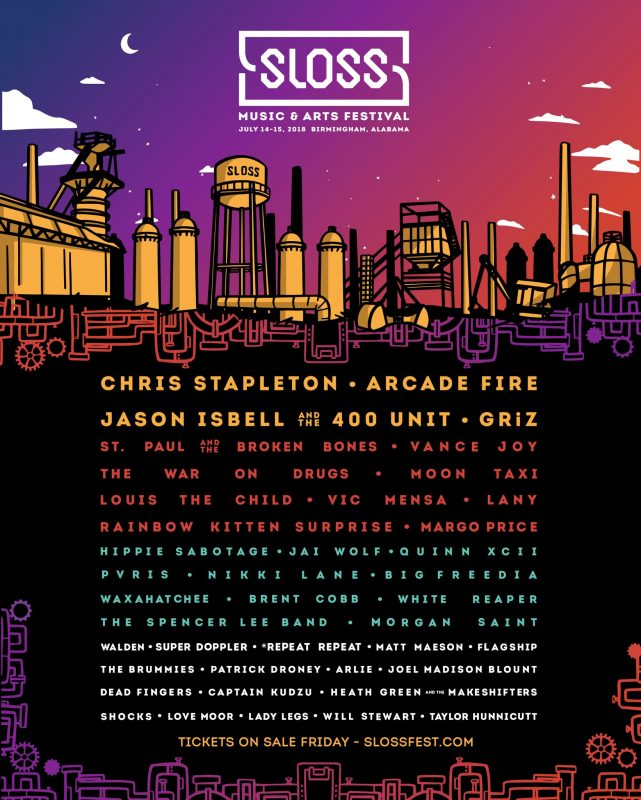 Sloss Music Festival Birmingham Alabama Events