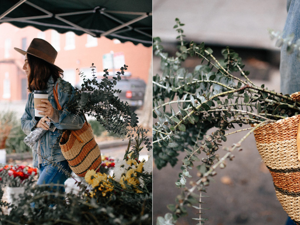 Organic herbs at a local farmers market