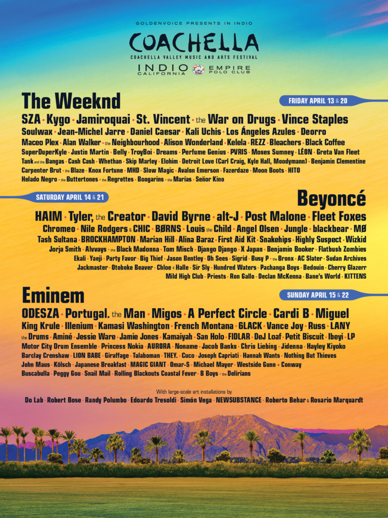 Coachella California music events