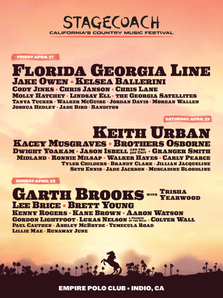 Stagecoach country music festival California events