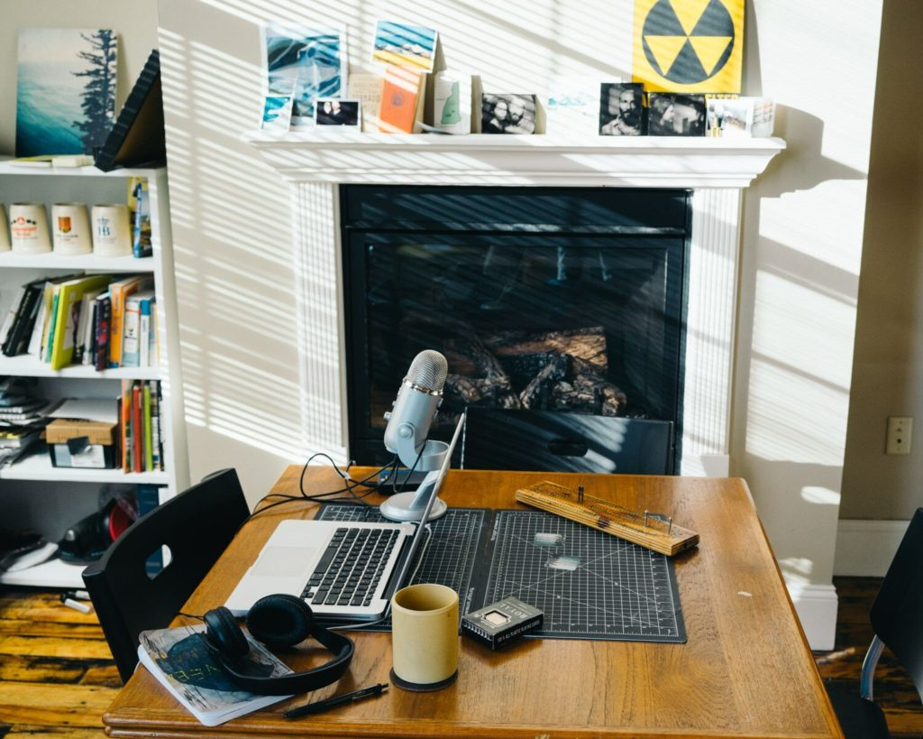 Podcast work space