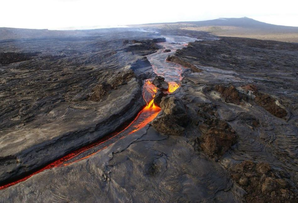 Active Volcanoe Lava Flow