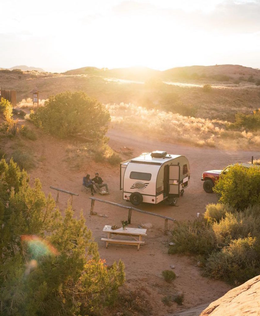 RV camping in the desert