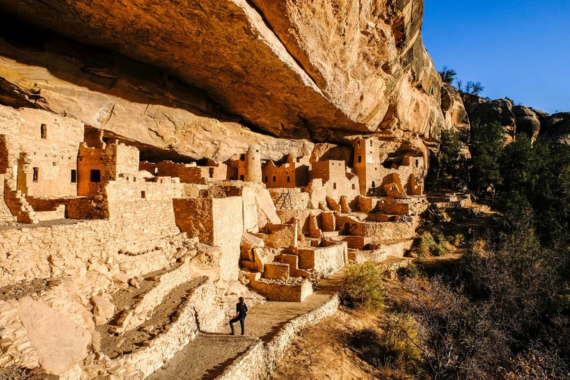 Stone Pueblo Cliff Dwellings