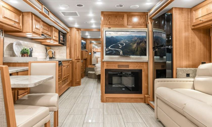 Inside a Tiffin Class A RV