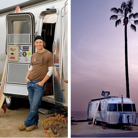 Matthew McConaughey airstream travel trailer