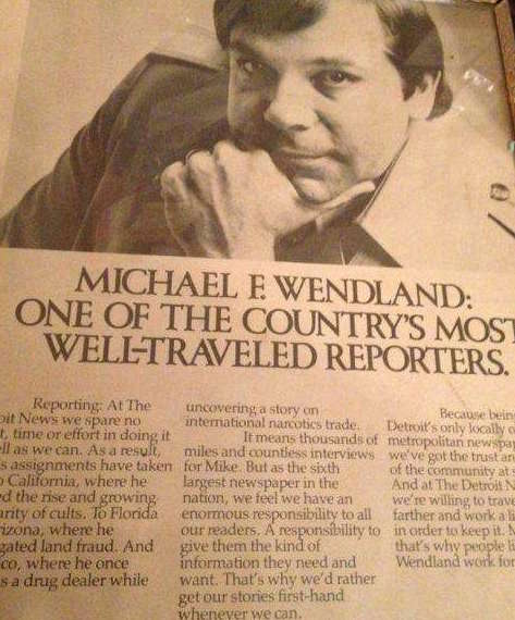 Reporter Mike Wendland Newspaper