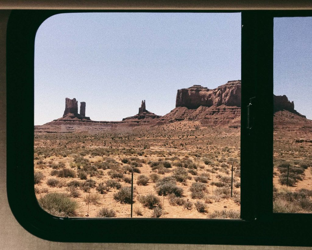 Monument Valley Red Rocks RV window