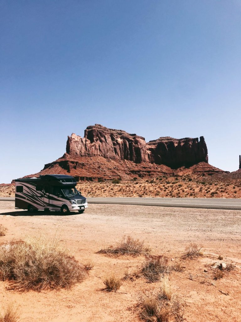 Tiffin Wayfarer in Monument Valley Red Rocks