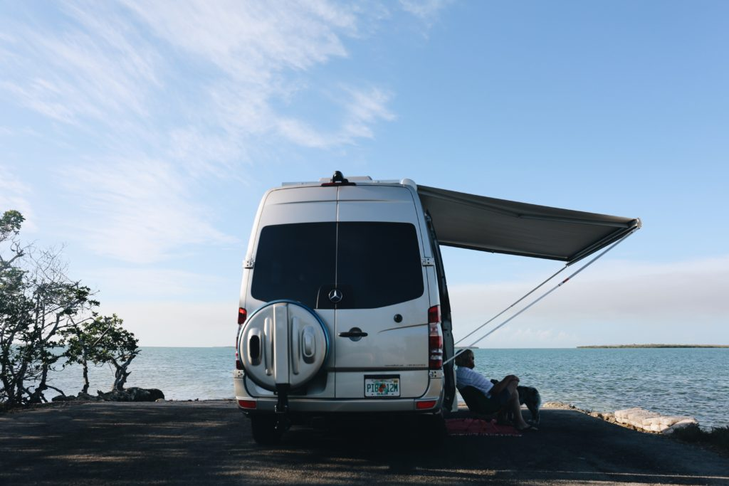 Class B RV at the beach