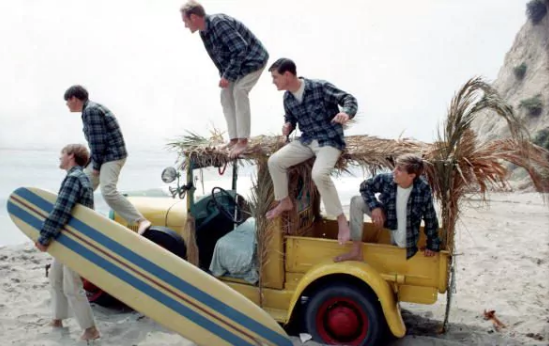 Beach boys on a jeep