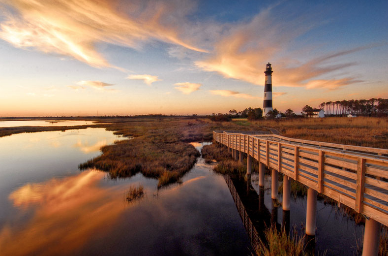 Lighthouse In The Marsh