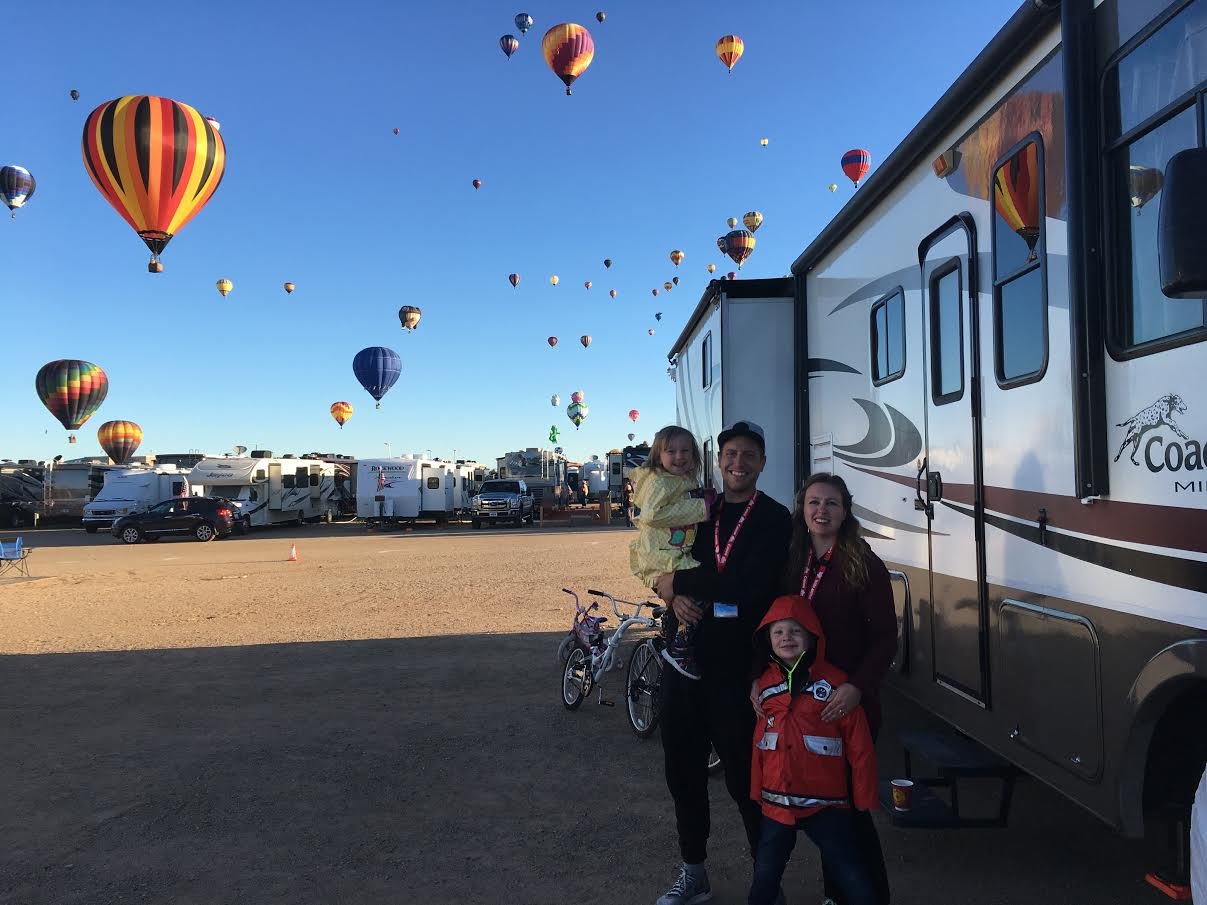 Camping at the new mexico balloon festival