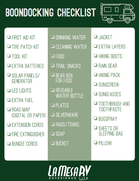 Your Downloadable Boondocking Checklist for Camping Under the Changing Leaves