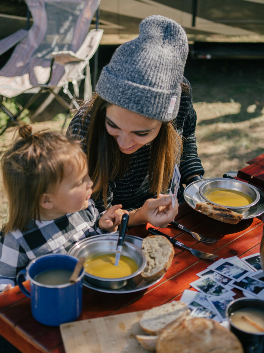 Take Polaroid photos for keepsakes during Friendsgiving at Your Campground