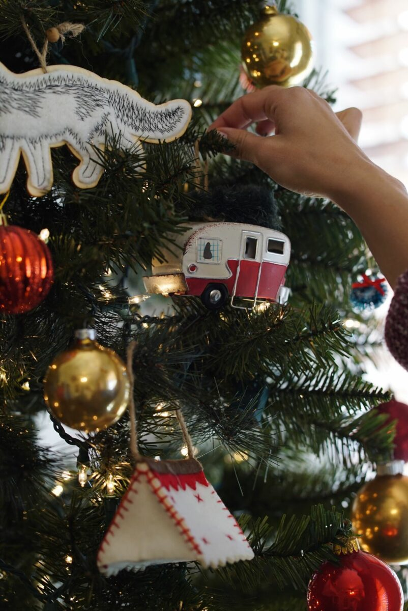 Christmas tree decorations in your RV
