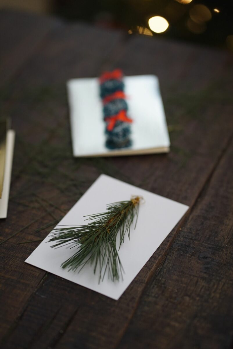 DIY camp inspired Christmas cards