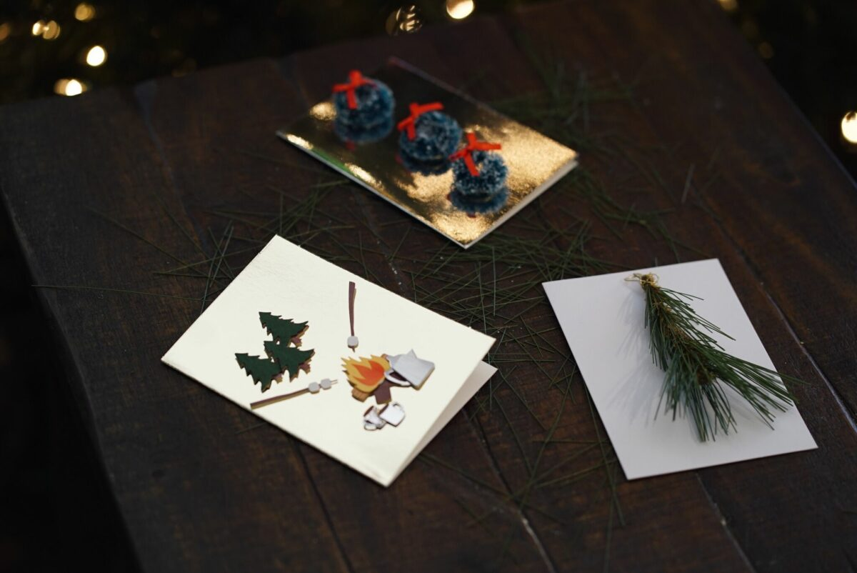 DIY Christmas cards for Christmas card day