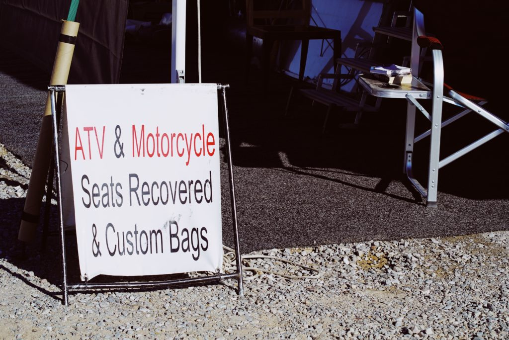 ATV & Motorcycle Seat Recovery Shop in Quartzsite, Arizona