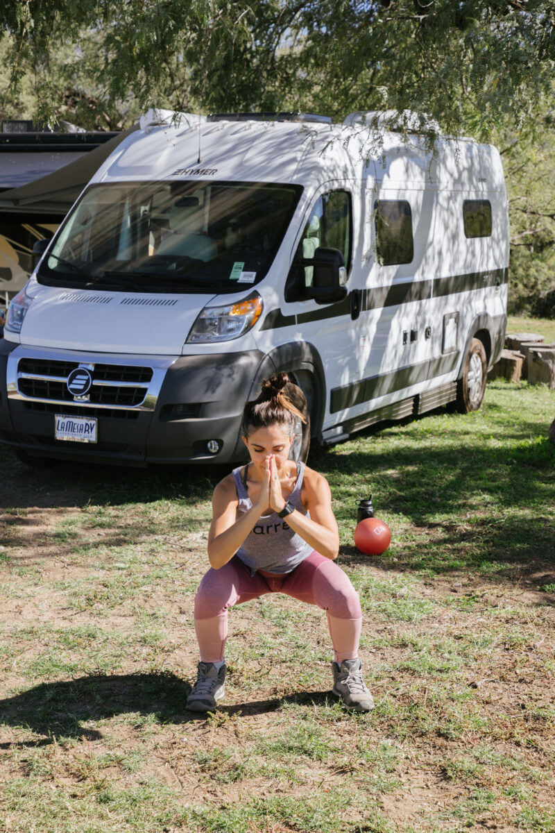 How to workout on the road when living in your RV