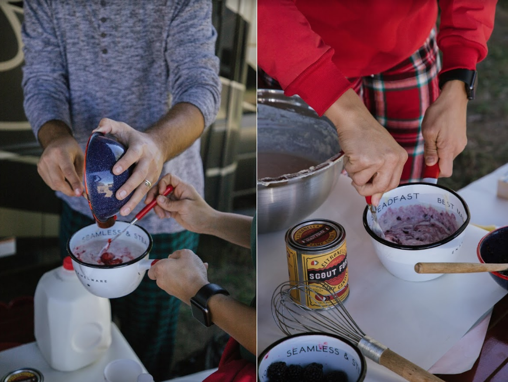 berry pancake recipe on Christmas day at your RV campground