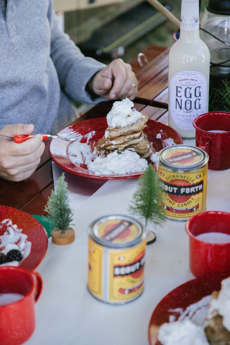 Your christmas morning meal! berry pancakes for the kids and your loved ones