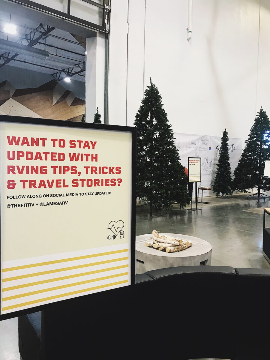 The Fit RV share how they maintain a healthy livestyle while living on the road at our West Sacrameto location for a holiday workshop