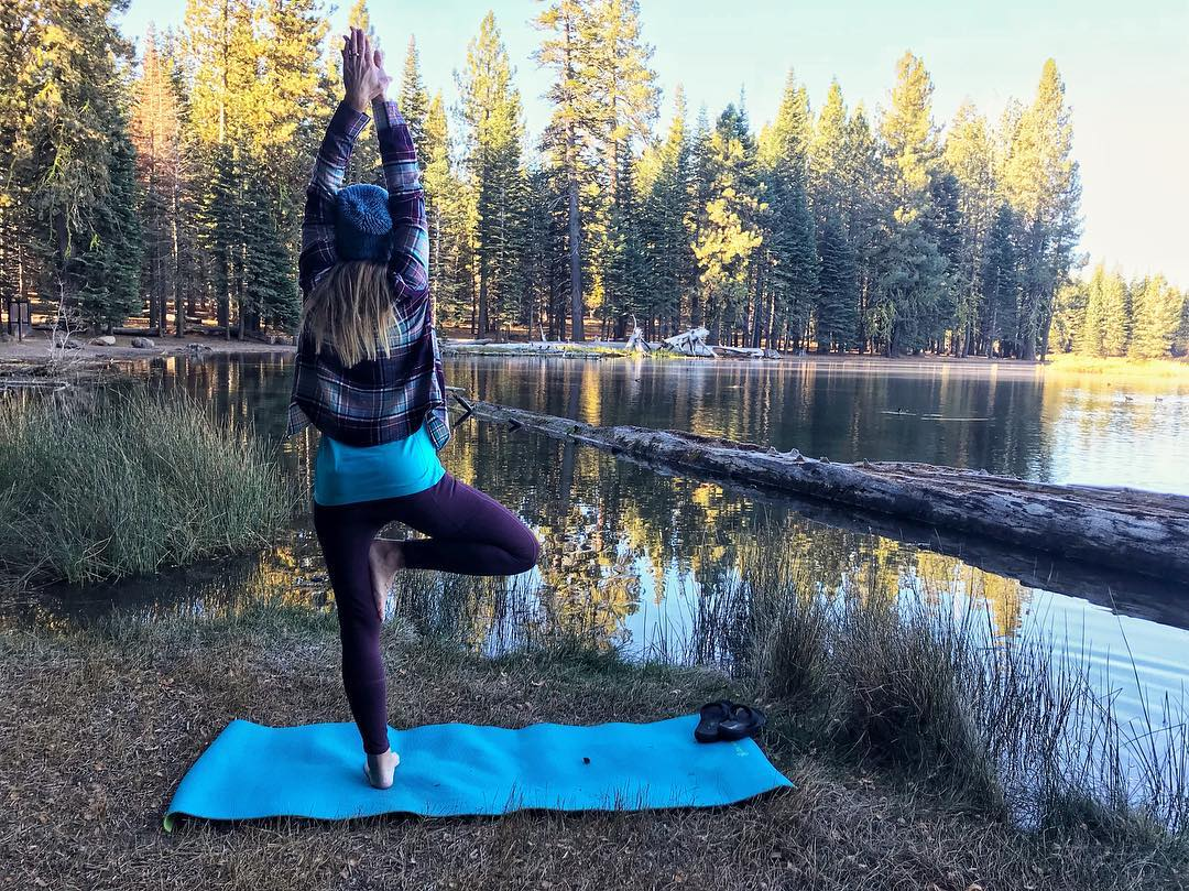 the Fit RV. How to stay active on the road. Yoga on the road in nature