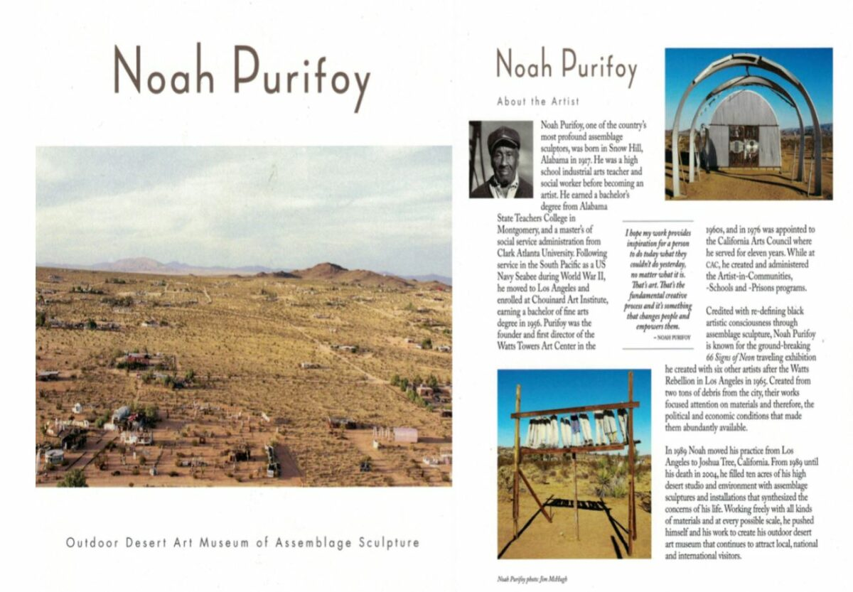 Noah Purifoy, a Joshua Tree desert oasis of art installation