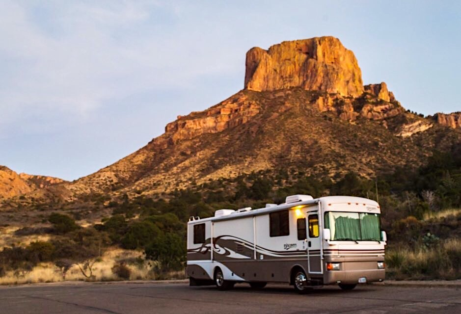 This luxury Class A motorhome is calling your name