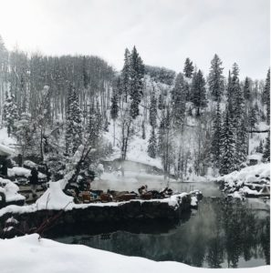 Strawberry Hotsprings in Steamboat Springs Colorado is an outdoor hots springs lover's bucket list spring