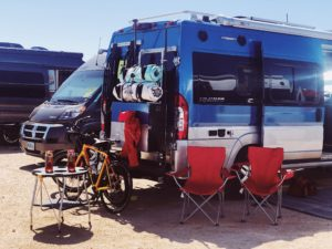 Blue Modified Winnebago Travato Winne B Rally