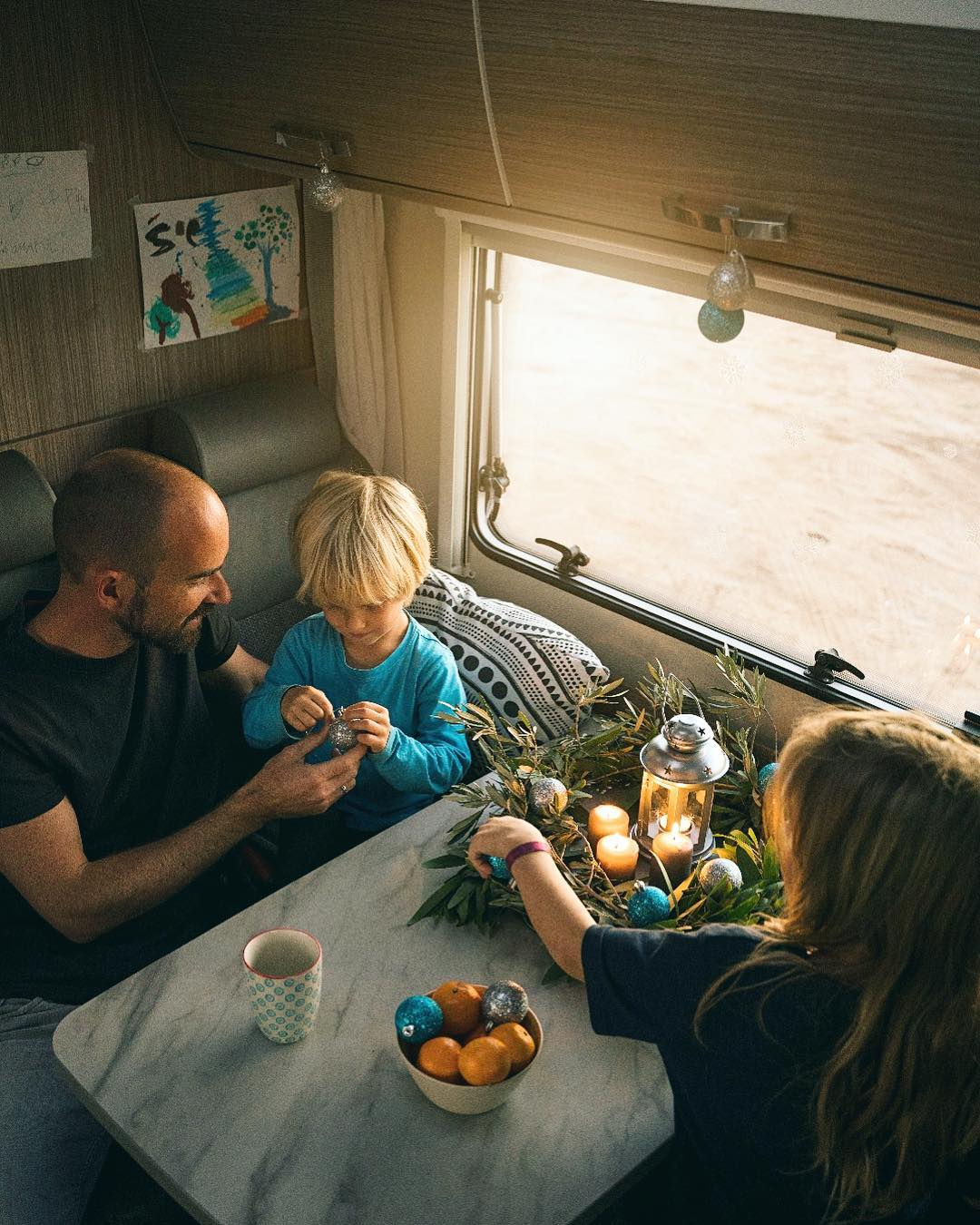 family of four RVing in Europe