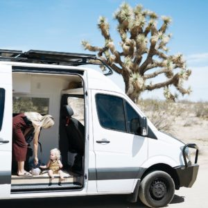 Family RV travel in southern California