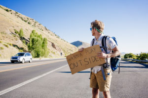hitch hiking, road stories, car trouble