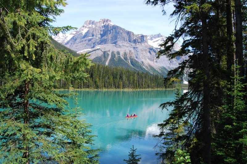 kayak, emerald water, go hiking, swim in Canada