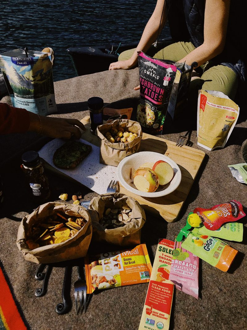 food packing list for hiking, packing for summer road trip