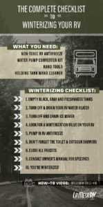 checklist for winterizing your RV