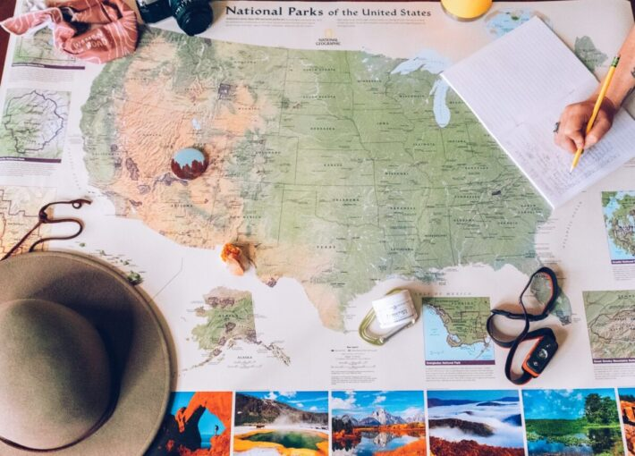 GIVEAWAY: Enter to Win An Annual National Park Pass and National Geographic National Parks Wall Map