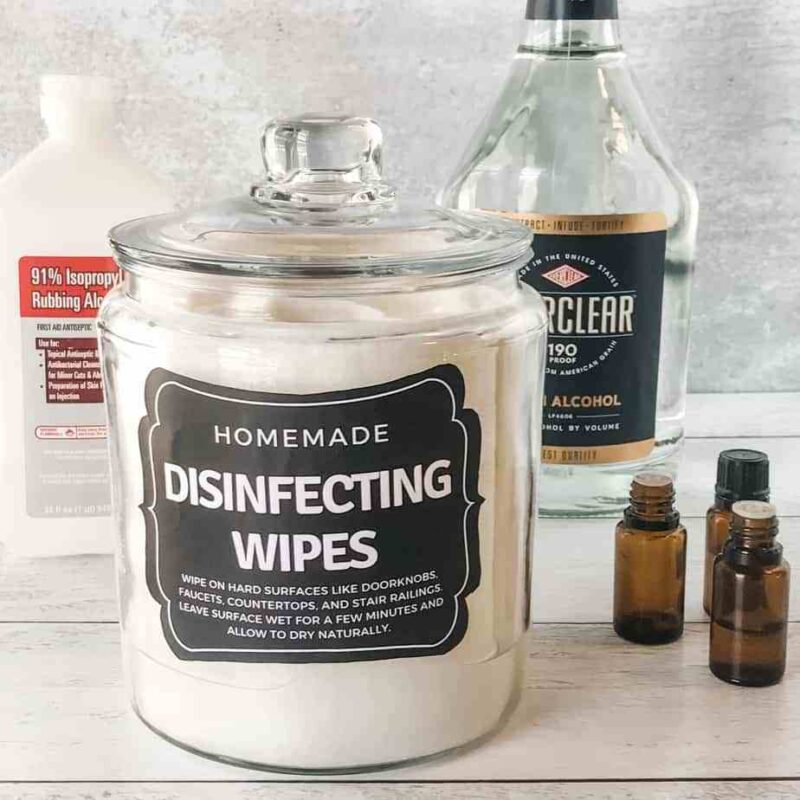 DIY disinfectant wipes