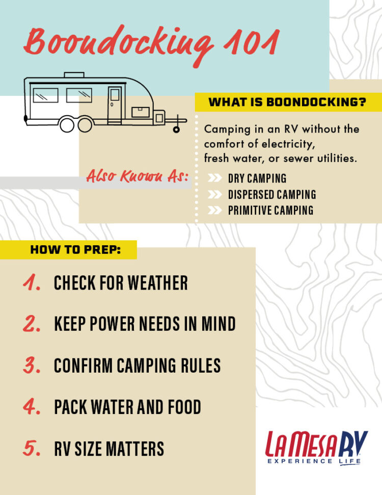 Boondocking and dry camping guide